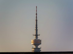 Olympiaturm (Matthias Harbers) Tags: life city travel sky urban building tower skyline architecture photoshop canon germany munich mnchen landscape bayern bavaria 1 evening abend inch cityscape himmel x powershot elements labs dxo fernsehturm g3 turm olympicpark topaz olympiaturm superzoom g3x
