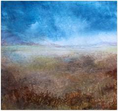 Watercolour:...windswept plain... (Nadia Minic) Tags: wind plain windswept nature distance sky rainy windy outdoor contemporaryart watercolour art artistnadiaminic luxembourg horizon