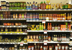 Challenge Friday, week 26, theme marks (1) - trademarks galore (karenblakeman) Tags: uk july marks pickles shelves sauces caversham trademarks waitrose 2016 cf16 challengefriday