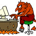 devil on computer gif