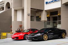 360 and 430 (Noah L. Photography) Tags: red black car gold spider walnut convertible 360 ferrari modena supercar sportscar f430 hingwalee