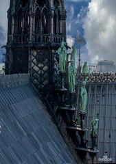 Notre-dame de Paris (brenac photography) Tags: blue sky paris france church seine river nikon ledefrance cityscape view daytime fr diable cmn chimere d810 nikond810 brenac brenacphotography