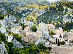Looking Down Upon Les Baux De Provence (K.G.23) Tags: omdem5markii vscofilm m43 panasonic25mmf14 vscofilm04 omd olympus mft lesbauxdeprovence provencealpesctedazur france fr
