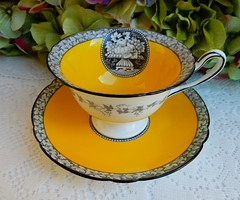 Shelley Fine Bone China Cup & Saucer Gainsborough Yellow Fruit Cameo (Donna's Collectables) Tags: shelley fine bone china cup saucer gainsborough yellow fruit cameo