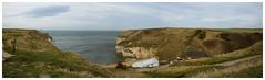 Flamborough_Panorama1 (stevefge) Tags: uk sea panorama bay path yorkshire cliffs northsea coastalpath flamborough