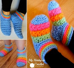 Starlight Slippers free pattern-wonderfuldiy (Wonderful DIY) Tags: diy crafts crochetslippers
