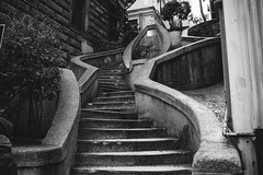 stairs to taksim tower (felipeepu) Tags: tower stairs heaven istanbul rainy taksim