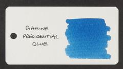 Diamine Presidential Blue - Word Card