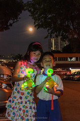 Lanters and the full moon (Stinkee Beek) Tags: erin ethan pcfkindergarten mooncakefestival singapore