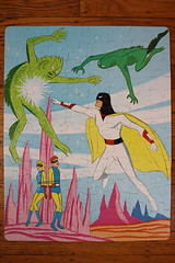 Space Ghost Puzzle (Whitman 1968) (Donald Deveau) Tags: cartoon puzzle spaceghost tvshow sciencefiction monsters whitman hannabarbera 1960stv