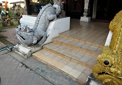 Fraternal Twins (John 3000) Tags: travel 2 two art thailand temple twins asia arte statues dragons chiangmai wat statuary guardians 2015 buppharam thailand2015