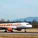 Touch down of an easyjet flight at euroairport