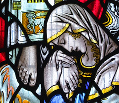 Mary Magdalene embraces the feet of Christ (George Cooper-Abbs, 1934) (Simon_K) Tags: church churches barton cambridgeshire eastanglia cambs