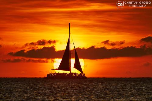 Atardeciendo en Aruba