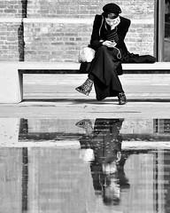 Quiet Reflection (jaykay72) Tags: street uk blackandwhite bw london candid streetphotography londonist granarysquare stphotographia
