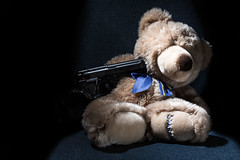 Game Over (henriluc.bonnes) Tags: art 14 sigma freeze revolver ours peluche 30mm pistolet