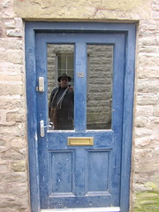 blue door (Big*Al*Davies) Tags: door wales bigaldavies hayonwye