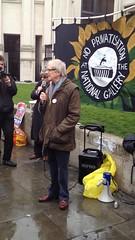 A few words from Ken Loach IMG_2795 (szczel) Tags: london famous rally ken trafalgarsquare nationalgallery supporter strike director loach kenloach noprivatisation