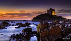 Mysterious Chapel (paulosilva3) Tags: seascape portugal canon landscape eos twilight little chapel lee filters miramar stopper 6d polariser spedra