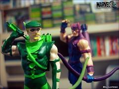 Green Arrow & Hawkeye (Gui Lopes BH) Tags: verde green classic comics miniatures justice dc statues collection hawkeye arrow figurine marvel league avengers miniaturas gavio arqueiro eaglemoss