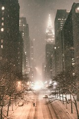 Snowy NYC (sousapp) Tags: street nyc newyorkcity winter snow newyork night manhattan snowstorm chryslerbuilding urbanphotography newyorkatnight nycnight tudorcity nycphoto nycwinter nycsnow citysnow newyorksnow cityphotography newyorkphoto newyorkcityphotography snowstormnewyorkcity viviennegucwa viviennegucwaphotography chryslerbuildingsnow 2014nycsnow janus2014 janusmanhattan janussnow2014 nycjanus