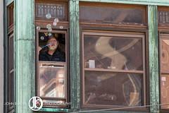 Bubbles (JohnBorsaPhoto) Tags: street old city windows man building brick guy window beard buffalo allen apartment bricks streetphotography bubbles blowing blow historic queen elderly bubble tradition avenue allentown elmwood