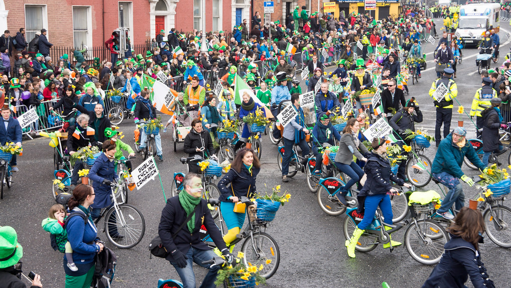 DUBLIN CYCLING CAMPAIGN - ST. PATRICK'S PARADE 2015 IN DUBLIN REF-102360