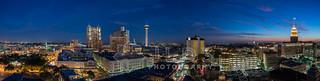 SA Evening Skyline Panorama