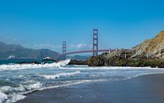 Baker Beach 2 (estebanpaniagua) Tags: sf sanfrancisco california park bridge blue sky usa west goldengate westcoast