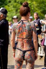 Mayumi dos (Scanderrr) Tags: woman beautiful japan tattoo japanese tokyo amazing yakuza japon tatouage irezumi munewari