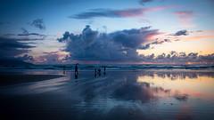 Happy little people (P i a :)) Tags: ireland sunset seascape silhouette reflections children t may kerry his 2016 landscapephotography bannabeach irishatlanticcoastline