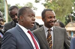 Dr Matiangi and MP Dennis Waweru