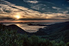 Ionian Sunset.. (George Kapsas) Tags: sunset sea seascape clouds easter airplane tracks greece ionian syvota epirus