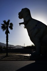 Mr Rex (Aneonrib) Tags: california pee silhouette dinosaur 10 palm southern socal palmtree worlds ten wee interstate dinosaurs trex peewee largest cabazon
