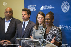 Industry Partnerships Announcement at Time Warner (nycmayorsfund) Tags: summer fashion youth real media estate employment business entertainment hospitality twc careers internships flonyc
