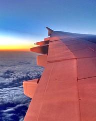 Dubai sunset (cattan2011) Tags: travel sunset nature clouds landscape dubai flight traveltuesday emirateflight