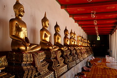 Rows (pooly7) Tags: red tourism thailand temple gold pattern bangkok buddha buddhist buddhism rows repetition