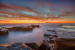 The Channel (JimScottAU) Tags: longexposure seascape clouds sunrise turimetta