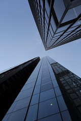 London Looking Up 4 (Into Infinity) (mark f2.9) Tags: london tower skyline relection block upwards skyscrapper