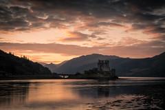 the castle (semitune) Tags: lake reflection skye sunrise landscape dawn scotland eilean donan