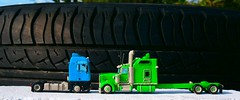 MAN TGA VS Kenworth W900L Clay scale model truck (Plast&Cars) Tags: usa scale truck is big model euro clay rig vs which coolest tga kenworth w900l