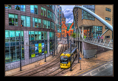City Link (Kevin From Manchester) Tags: building architecture train manchester transport tracks trains lancashire railwaystation metrolink trams citycentre hdr piccadillystation canon1855mm railwaylines plantform kevinwalker canon1100d