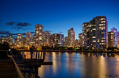 Night People (Clayton Perry Photoworks) Tags: blue people canada skyline night vancouver buildings reflections lights bc falsecreek hirises explorebc explorecanada