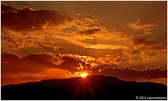 Setting Sun 250216 (cavemanboon*) Tags: sunset sun clouds georgetown hills malaysia sunburst penang  settingsun  cavemanboon