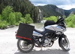 Riding in Montana (montanatom1950) Tags: montana suzuki dl650 vstrom motorcycletouring