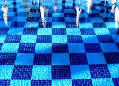 Como un tablero de ajedrez. (camus agp) Tags: espaa agua panasonic verano piscinas vacaciones marbella reflejos azules fz150