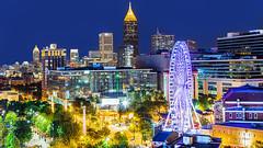 Atlanta Night (harvey.doane) Tags: blue atlanta night lights view refelection