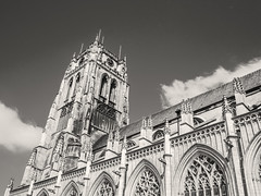 Basilica (enneafive) Tags: old city blue sky tower church cloudy antique basilica gothic olympus omd tongeren em5