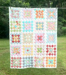 Great Granny Square Quilt (ABMoss) Tags: hello snow square woods quilt walk great dream x size lap fabric bonnie chic batting granny camille darling inches kona 60 48 select quilters shabby hoey sashing aneela