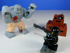 Tactical Soldier Vs. Big Zombie! (gadwaid13) Tags: soldier lego zombie mini figure vs minifigs custom figurine figs minifigure tactical minifigurine